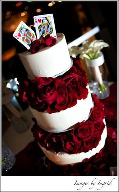king and queen of hearts cake