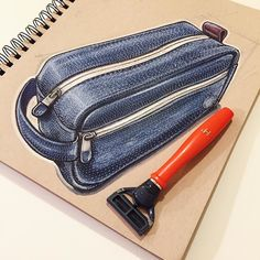 Since I frequently travel for work I decided to switch over to @harrys razors and I am thoroughly impressed. Great quality razors and water resistant travel kits that don't break the bank! #ID #idsketching #industrialdesign #productdesign #harrys #ownyouram #design #sketch #sketching #sketchbook #drawing #razor #shaving #travelkit by reidschlegel. Reid Schlegel is an industrial designer and illustrator out of frog design NYC. #illustration #industrialdesign
