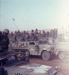 IDF troops on Golan Heights in aftermath of Six Day War, June 1967.