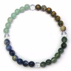 Gemstone ZODIAC BRACELET Crystal Healing - CANCER