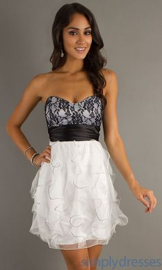 Junior Strapless Dresses_Other dresses_dressesss