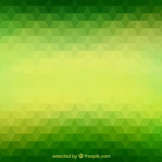 Green polygons background Free Vector
