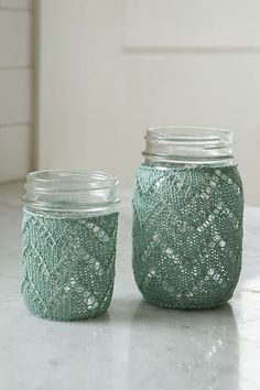 Chevron Mason Jar Cozy from Retro Kitchen Knits