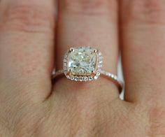 Yellow Diamond Engagement rings 1.5ct VVS2 Jasmine yellow diamond ring. Rose gold ring with fancy diamond. Engagement ring by Eidelprecious