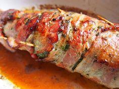 Polędwiczki wieprzowe w ziołach i boczku/ Pork tenderloin in herbs and bacon.