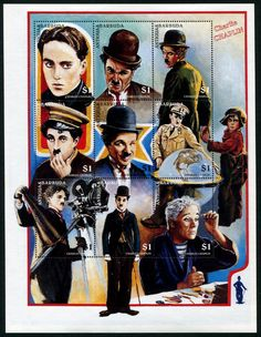 Antigua Charlie Chaplin Stamps