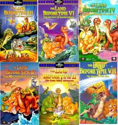 the land before time set 7 vhs: The Land Before Time III – The Time of the Great Giving, The Land Before Time – The Big Freeze, The Land Before Time II – The Great Valley Adventure, The Land Before Time V – The Mysterious Island, The Land Before Time VI – 2000s Cartoons, Big Freeze, The Mysterious Island, Land Before Time, Animation Movies, Universal Pictures, Cartoon Shows, Greatest Adventure, Classic Movies