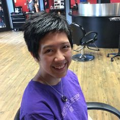....and after! Wow that's alot of length gone but does she look amazing? #pixiecut #pixiecutie #shortforsummer