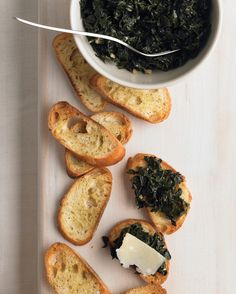 Appetizers set the mood for any party, whether it's a holiday party, birthday party, baby shower, or elegant dinner party. Browse our favorite vegetarian appetizer recipes and find the perfect way to welcome your guests.Kale is sauteed with garlic and lemon juice, and heaped on top of toasted baguette slices in this rustic appetizer. Use a vegetable peeler to create the thin curls of Parmesan cheese that top the crostini.