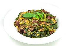 Kidney Beans and Chard in Coconut Milk. This recipe surprised me by how delicious it is!   on http://blog.sigsiv.com