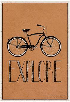 Explore Retro Bicycle Player Art Poster Print Poster at AllPosters.com