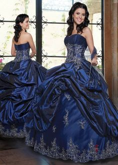 Sweetheart Taffeta Ball Gown Dress With Appliues And Ruffles