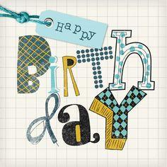 Kaarten - verjaardag man - hip trendy m | Hallmark
