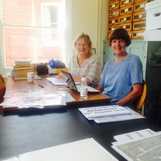 Two of our fantastic volunteers, Alison and Jean, finishing up cataloguing our collection for the day. Lots has already been done, but we still have a long way to go - so more exciting discoveries are on their way!