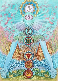 Pay attention to each chakra daily, and you will notice a huge difference in your life. Pay attention to each chakra daily, and you will notice a huge difference in your life. Arte Chakra, Chakra Art, Chakra Painting, Tantra, Reiki, Yoga Kunst, Mandala Art, Typographie Inspiration, Les Chakras