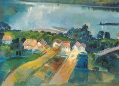 Szőnyi István - A Duna Zebegénynél, 1930