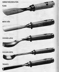 Gubia: son herramientas de trabajo que se usan para tallados decorativos de frutas y verduras