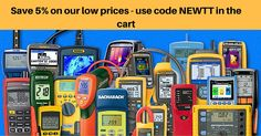 Save additional 5% on all Test Equipment. Use Code NEWTT in the shopping Card. Welcome at: http://www.testersandtools.com/