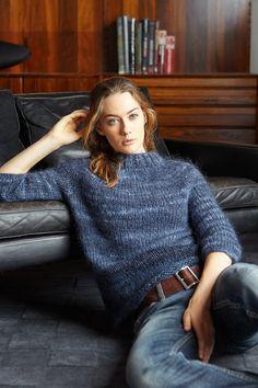 Ravelry: Blueberry Yoke Sweater pattern by Jo Sharp Hand Knitting Yarn, Sweater Knitting Patterns, Knitting Designs, Knit Patterns, How To Purl Knit, Mohair Sweater, Sweater Weather, Circular Needles, Sweaters