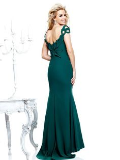 Image result for dark green evening gown