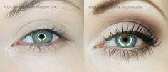 ...Bo w oczach tkwi siła duszy...: Perfekcyjny makijaż- czyli krok po kroku jak optycznie skorygować opadający kącik oraz powiększyć oczy