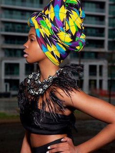 Colorful headwrap
