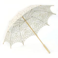 "Victorian Lace Parasol Umbrella - Ivory [Ivory Lace Umbrella Parasols] : 26""L x 29""D  #ivory #lace #umbrella #parasol #victorian #decor #decorations #southernbelle #cotton"
