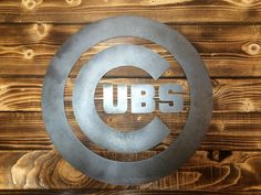 Chicago Cubs Metal Wall Art by UpstateMetalDesigns on Etsy