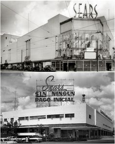 Figura 7. Novedosas formas de comprar bajo techo sin ver el exterior: la característica tienda por departamentos. Sears Roebuck, Baltimore, 1938 / Sears Bello Monte, Caracas, ca.1970