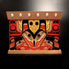 Seawolf Bentwood Box  Jay Simeon  Haida / Blackfoot Nations