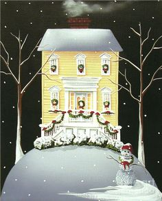 """""""Yuletide Cottage"""" Painting by Catherine Holman"""