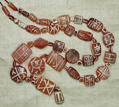 Rare & Ancient Carnelian Etched Beads