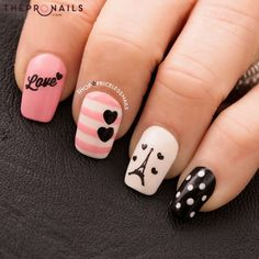 Tag someone who will take you to Paris this Valentine day <3 #nails #love #Paris