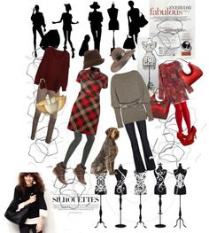 """""""Everyday Fabulous Silhouettes"""" by monica-jordan on Polyvore"""