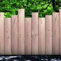 Palisade in grob gesägten oder gebürsteten Holzbrettern - kareem Dog Backyard, Small Backyard Gardens, Backyard Garden Design, Small Gardens, Backyard Landscaping, Front Fence, Front Entrances, Fence Design, Garden Gates