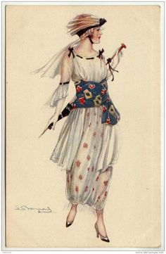 15 illustrations vintage femmes - Page 12 Mode Vintage, Vintage Art, Vintage Ladies, Vintage Dresses, Vintage Outfits, Vintage Fashion, Fashion History, Fashion Art, Illustrations Vintage