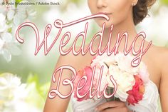 Wedding Bells (Font) by Misti · Creative Fabrica Best Script Fonts, Great Fonts, All Fonts, Handwritten Fonts, Wedding Invitation Fonts, Wedding Fonts, Free Wedding, Rental Wedding Dresses, Waterfall Wedding