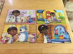 Jigsaw Puzzle Disney Junior Doc Mcstuffins 4 In 1 Wood 3+ Years ...
