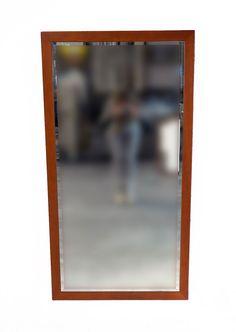 Specchio con cornice ciliegio