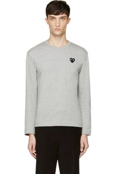 43ffa40f2a Comme des Garçons Play - Navy   White Logo T-Shirt