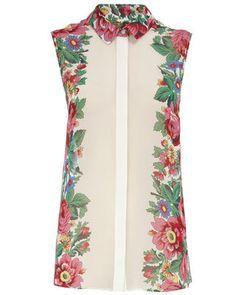 FLARE pick: Dorothy Perkins floral border print sleeveless blouse, $42