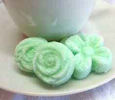 Items similar to Mint Green Flower and Rose Shaped Sugar Cubes 3 dozen on Etsy Mint Green Flowers, Wedding Mint Green, Edible Roses, Sugar Cubes, Shapes, Fruit, Ethnic Recipes, Desserts, Food