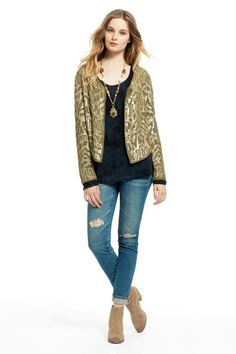 Haven Sequin Patterned Jacket | Calypso St. Barth