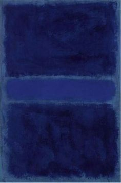 Untitled Blue - Mark Rothko 1968 Russian 1903-1970 Oil on paper mounted on canvas