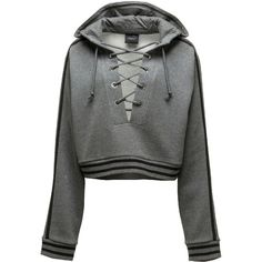 Fenty Puma By Rihanna Lace-Up Hoodie Sweatshirt ( 150) ❤ liked on Polyvore 280e5f3889d9a