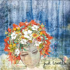 Just Breathe-  LIDC Digital Scrapbooking Kit Essence of life 2 by Christine Art