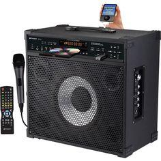 Emerson Karaoke DV121 150W Peak Professional CDG / MP3G Karaoke Player and Guitar Amplifier