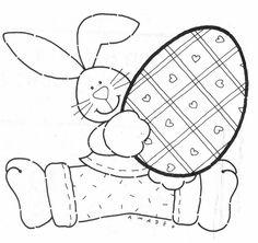 Cantinho da Jana: Riscos para pintura em tecido de coelhos