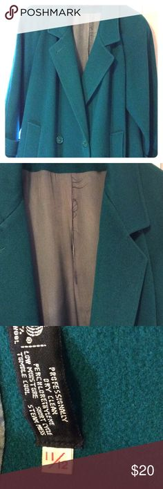 100% Wool Green Trench Coat. Size 11/12 Selling for my husbands grandma. This trench coat is in great shape. The Lining does have a rip in it as pictured in pic 2. A few loose threads here or there. It's green in color but it's a beautiful rich shade of green, the pics don't quite reflect the exact color. Jackets & Coats Trench Coats