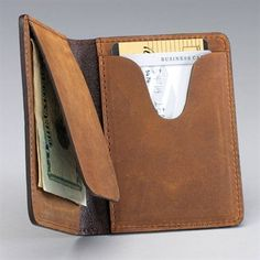 This makes for a simple card wallet. Note the pig skin lining.